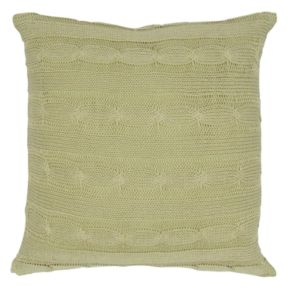 Rizzy Home Cable Knit Buttoned Back I Throw Pillow