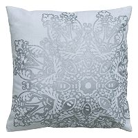 Rizzy Home Medallion Foil Printed Throw Pillow