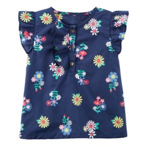 Baby Girl Carter's Floral Ruffled Top