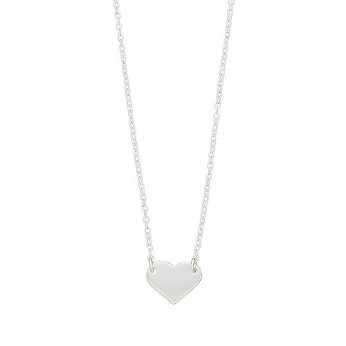 love this life Sterling Silver Heart Pendant Necklace