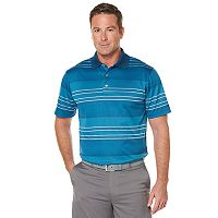 Big & Tall Men's Grand Slam Ombre Stripe Jacquard Performance Golf Polo