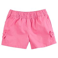 Baby Girl Carter's Tacked Bow Pink Shorts