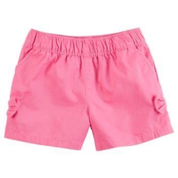 Baby Girl Carter's Tacked Bow Pink Shorts