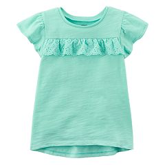 Baby Girl Carter's Flutter High-Low Mint Tee