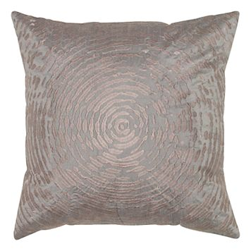 Rizzy Home Circular Abstract Embroidered Throw Pillow