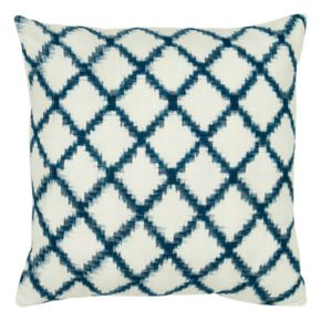 Rizzy Home Fractured Trellis Printed Throw Pillow