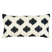 Rizzy Home Fractured Ogee Embroidered Oblong Throw Pillow