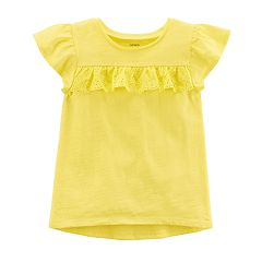 Baby Girl Carter's Yellow Lace Ruffle Tee