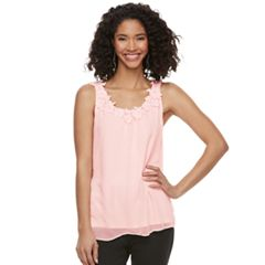 Women's ELLE™ Floral Applique Tank