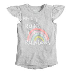 Girls 4-10 Jumping Beans® Flutter Sleeve Printed Tee