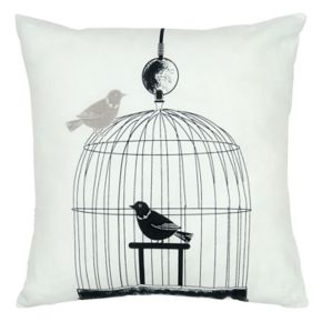 Rizzy Home Bird Cage Embroidered Throw Pillow