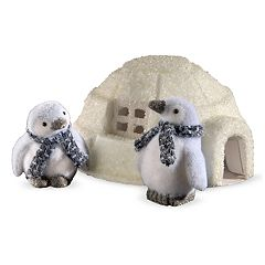 National Tree Company Igloo & Penguin Table Decor 3-piece Set