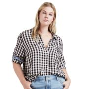 Plus Size Levi's Button Front Top