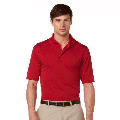 Grand Slam Ottoman Textured  Performance Polo - Men