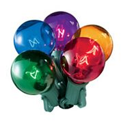 20 Transparent Multi-Colored Indoor / Outdoor Globe Christmas Lights