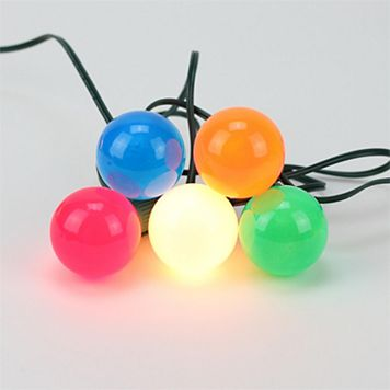 20 Opaque Multi-Colored G50 Indoor / Outdoor Globe Christmas Lights