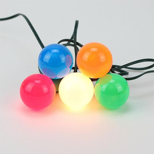 20 opaque multi colored g50 indoor outdoor globe christmas lights