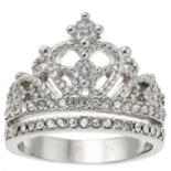 Silver Tone Crown Ring