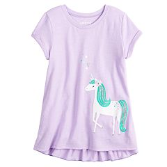 Girls 4-10 Jumping Beans® Ruffled Back Graphic Top
