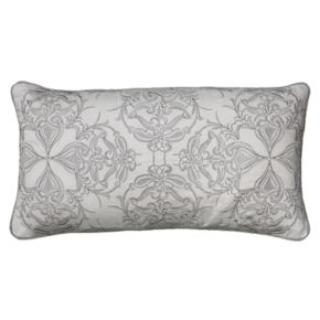 Rizzy Home Damask Embroidered Oblong Throw Pillow