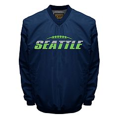 Men's Franchise Club Tone City Seattle Football Windshell Pullover Jacket
