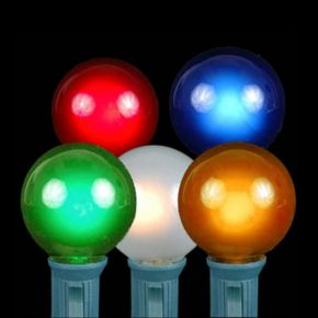 20 Opaque Multi-Colored G40 Indoor / Outdoor Globe Christmas Lights