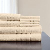Portsmouth Home 8 pc Plush Bath Towel Set
