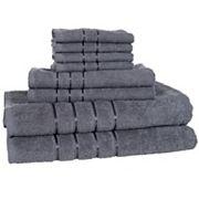 Portsmouth Home 8 pc Plush Bath Towel Set