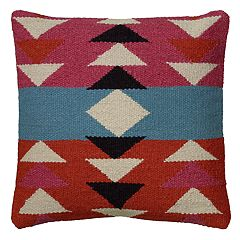 Rizzy Home Southwestern Geometric Woven Throw Pillow