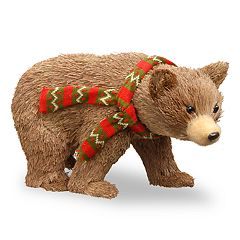 National Tree Company Brown Bear Table Decor