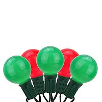 20 Opaque Red & Green Indoor / Outdoor Globe Christmas Lights