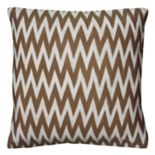 Rizzy Home Knitted Chevron Throw Pillow