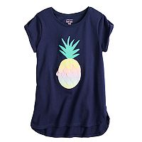 Girls 4-10 Jumping Beans® Graphic High-Low Softest Tee