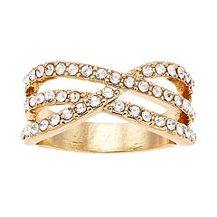 Gold Tone Crisscross Ring