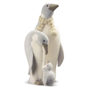 National Tree Company 17-in. Penguin Family Floor Decor