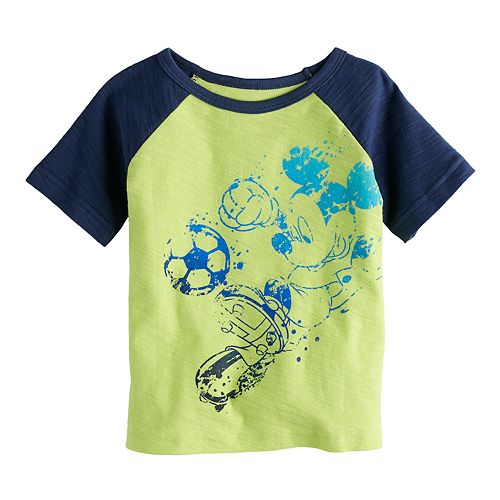 Disney's Mickey Mouse Baby Boy Soccer Raglan Graphic Tee