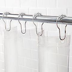 Kenney PEVA Shower Curtain Liner & Curtain Ring Set