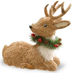 National Tree Company 12-in. Sitting Deer Floor Christmas Decor