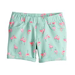 Girls 4-10 Jumping Beans® Patterned French Terry Jegging Midi Shorts