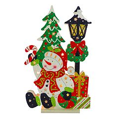 National Tree Company 17-in. Light-Up Snowman Floor Christmas Decor