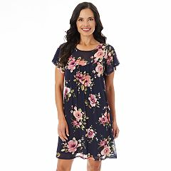 Women's Apt. 9® Printed Mesh Swing Dress