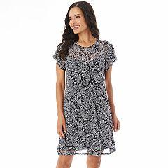 Women's Apt. 9® Printed Mesh Swing Dress