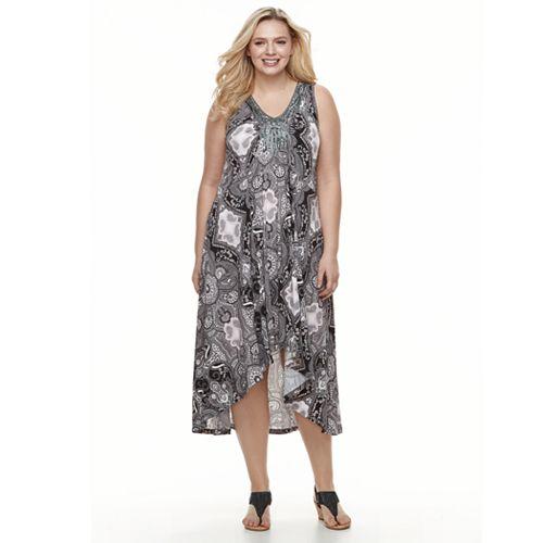Plus Size World Unity Soutache High-Low Dress