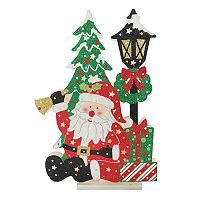 National Tree Company 17-in. Light-Up Santa Floor Christmas Decor