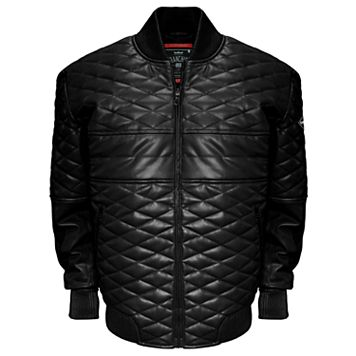 Men's Franchise Club Double Diamond Lambskin Leather Bomber Jacket