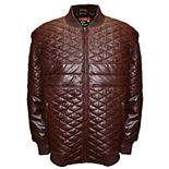 Men's Franchise Club Double Diamond Quilted Lambskin Leather Bomber Jacket