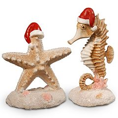 National Tree Company Seahorse & Starfish Table Christmas Decor 2-piece Set