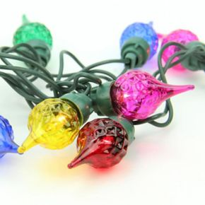 35 Faceted Multi-Colored Mini Christmas Lights