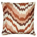 Rizzy Home Fractured Chevron Embroidered Throw Pillow