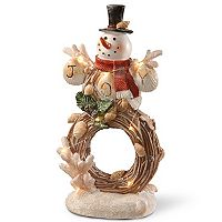 National Tree Company Light-Up Coastal Snowman Table Decor